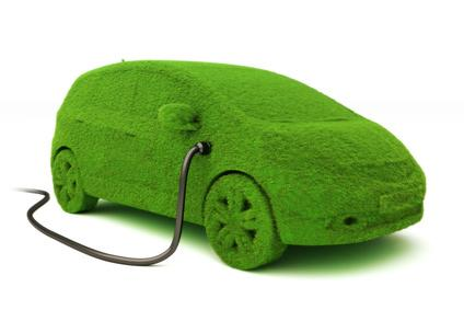 photo of green electric car